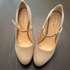 NWOT - Guess Leather Heels in Suede size 8.5